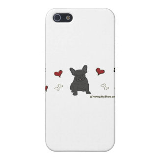 FrenchBulldogBlk Cover For iPhone SE/5/5s