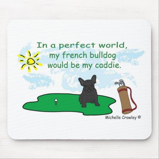 FrenchBulldogBlk Mousepad