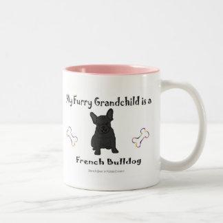 FrenchBulldogBlk Two-Tone Coffee Mug