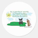 FrenchBulldogBlkWt Classic Round Sticker