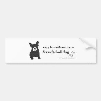 FrenchBulldogBlkWtBrother Bumper Sticker