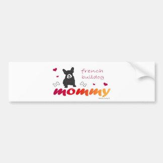 FrenchBulldogBlkWtMommy Bumper Sticker