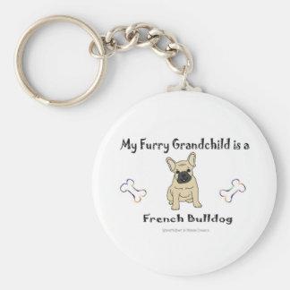 FrenchBulldogFawn Llavero Redondo Tipo Pin
