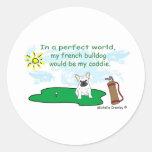 FrenchBulldogWt Classic Round Sticker
