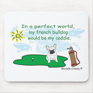 FrenchBulldogWt Mouse Pad
