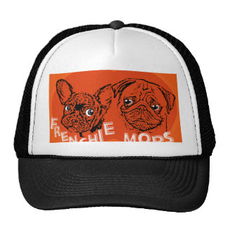 Frenchie and pug trucker hat