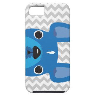 Frenchie azul en el caso del iPhone de Chevron iPhone 5 Fundas