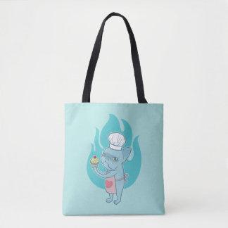 Frenchie azul y su magdalena mágica del amor bolsa de tela