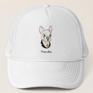 Frenchie BLACK TEXT Trucker Hat