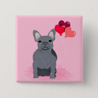 Frenchie Button - French Bulldog badge
