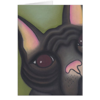 Frenchie by Robyn Feeley Greeting Card
