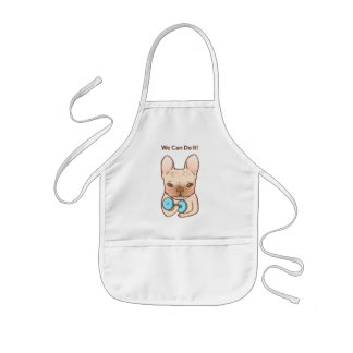 Frenchie Can Do It With You Kids' Apron