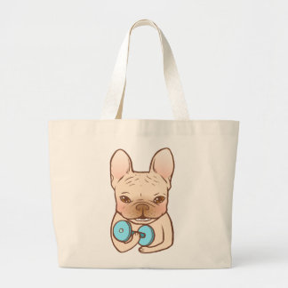 Frenchie Can Do It With You Large Tote Bag