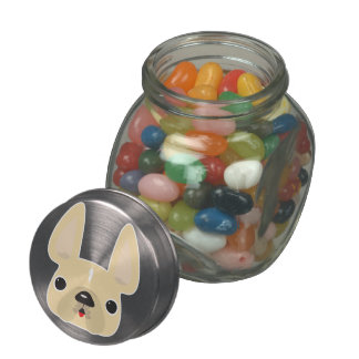 Frenchie Candy/Treat Jar Glass Candy Jar
