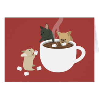 Frenchie Cocoa Greeting Card