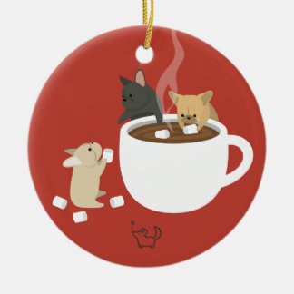 Frenchie Cocoa Ornaments