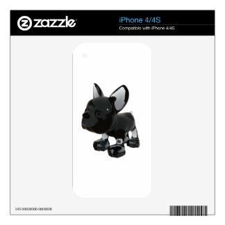 Frenchie de cristal skins para eliPhone 4S