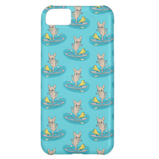 Frenchie doing yoga on stand-up paddle board case for iPhone 5C
