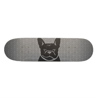 FRENCHIE FLEUR DE LIS Charcoal Grey Skateboard