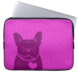 FRENCHIE FLEUR DE LIS purple Laptop Sleeve