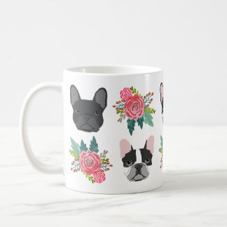 Frenchie Florals Mug - cute french bulldogs
