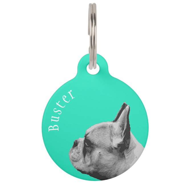 Frenchie | French Bulldog | Personalized Aqua