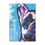 Frenchie French Bulldog pop art on wrapped canvas Canvas Print