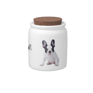 Frenchie - French bulldog puppy Candy Jars