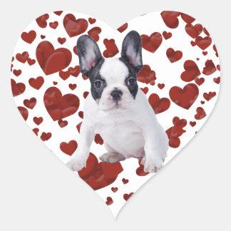 Frenchie - French bulldog puppy Heart Sticker