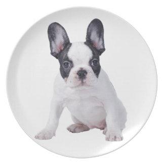 Frenchie - French bulldog puppy Melamine Plate