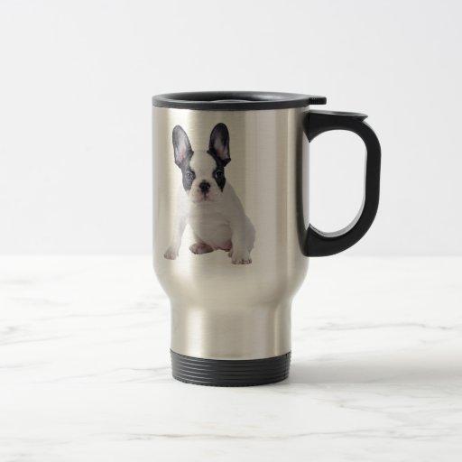 Frenchie - French bulldog puppy 15 Oz Stainless Steel Travel Mug