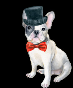 616316a3078 Frenchie French Bulldog Top Hat red bow tie Dogs Coffee Mug