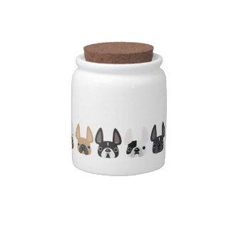 Frenchie Friends Treat Jar Candy Dish