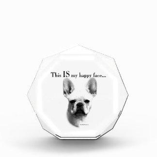 Frenchie Happy Face Acrylic Award
