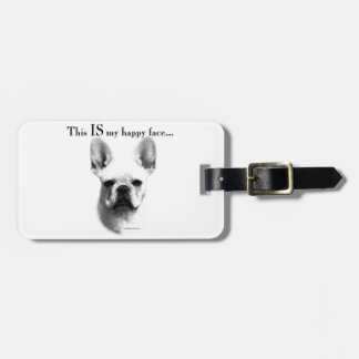 Frenchie Happy Face Bag Tag