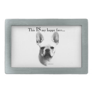 Frenchie Happy Face Belt Buckle