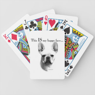 Frenchie Happy Face Bicycle Playing Cards