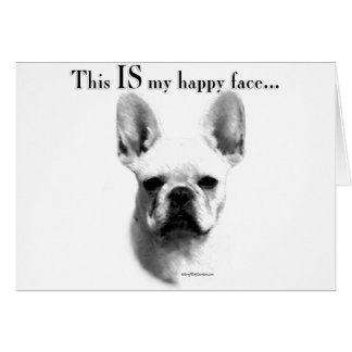 Frenchie Happy Face Greeting Card