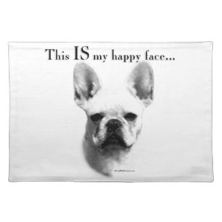 Frenchie Happy Face Cloth Placemat