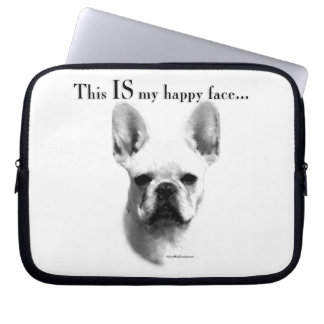 Frenchie Happy Face Computer Sleeve