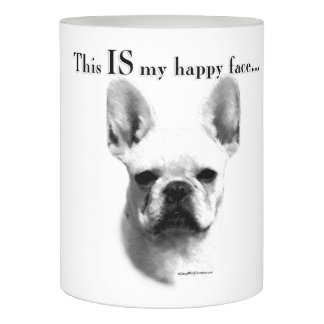 Frenchie Happy Face Flameless Candle
