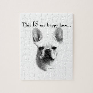 Frenchie Happy Face Jigsaw Puzzle