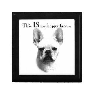 Frenchie Happy Face Keepsake Box