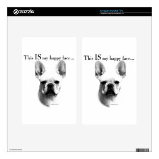 Frenchie Happy Face Kindle Fire Skin