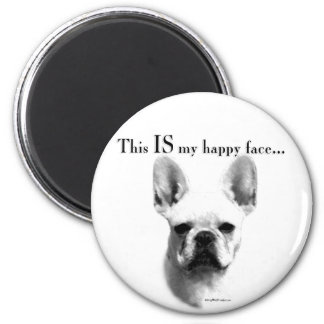Frenchie Happy Face Magnet