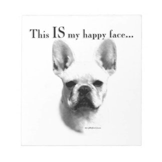 Frenchie Happy Face Notepad