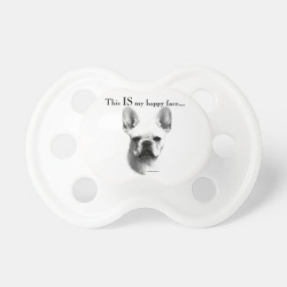 Frenchie Happy Face Pacifier