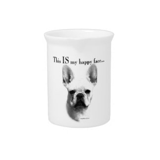 Frenchie Happy Face Pitcher