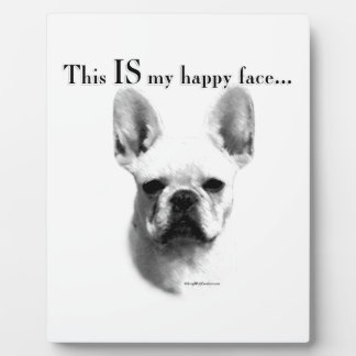 Frenchie Happy Face Plaque