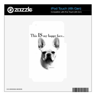 Frenchie Happy Face Skin For iPod Touch 4G